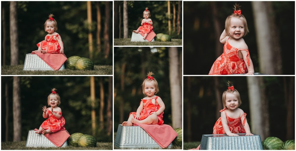 little girl eating watermelon at a Flourish Academy Camera Club. Photo by Laura Mares, a Pittsburgh Lifestyle Photographer