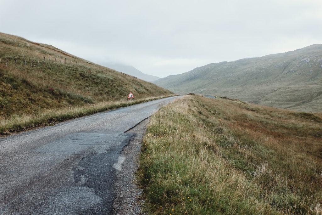 Rural road in Scotland