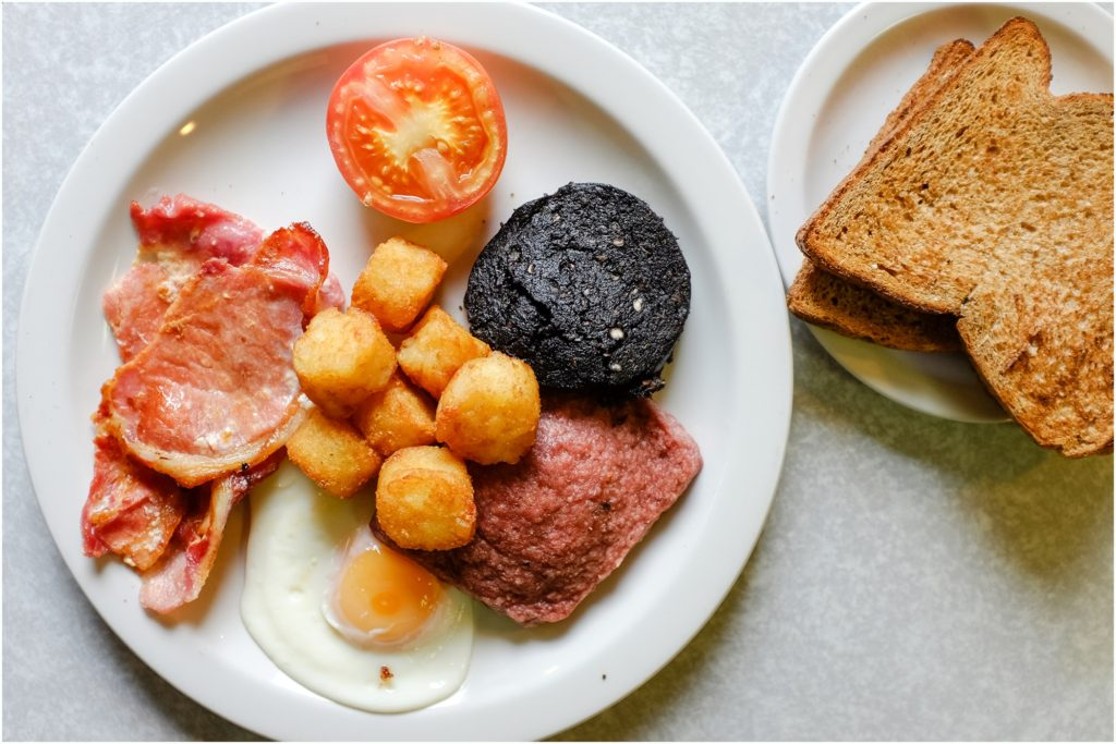 Full Scottish Breakfast. Photo by Laura Mares Photography, Pittsburgh Lifestyle Photographer