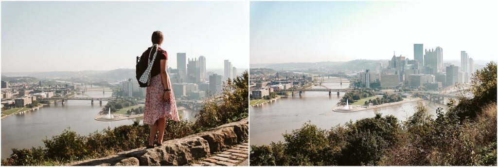 Girl standing on Mt. Washington. Photo by Laura Mares Photography, Pittsburgh Senior Photographer.