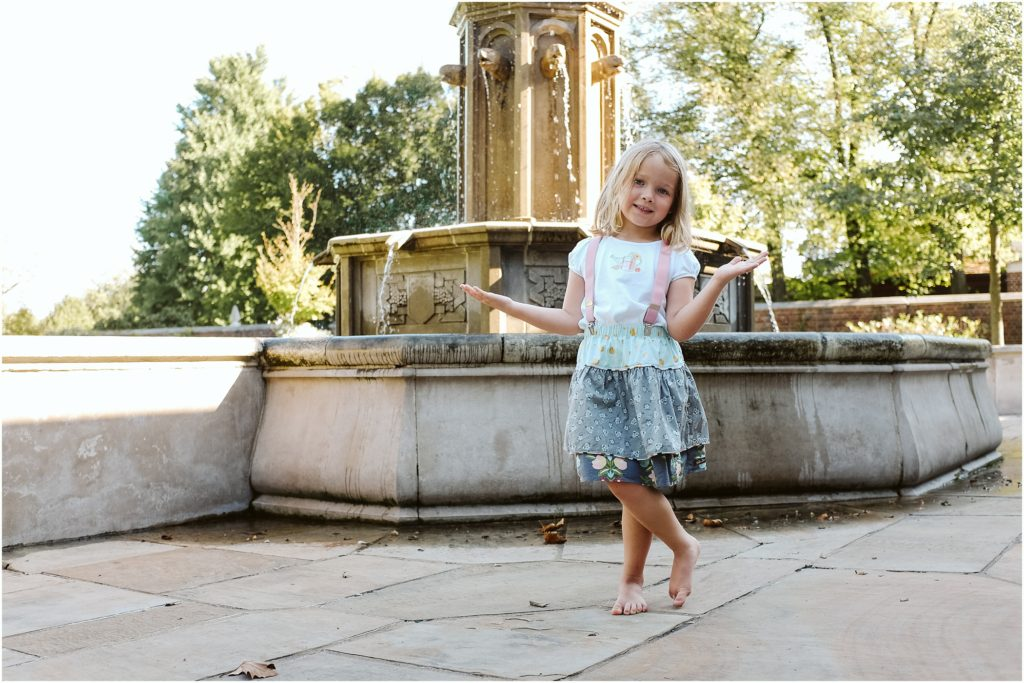 Girl standing in Mellon Park. Photo by Laura Mares Photography, Pittsburgh Child Photographer.
