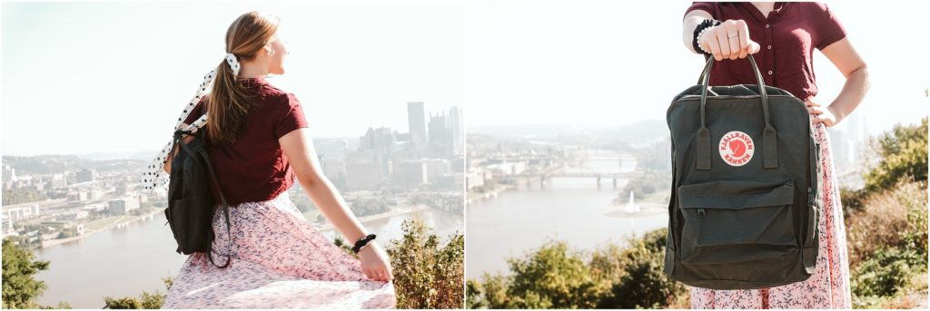 Girl standing on Mt. Washington. Photo by Laura Mares Photography, Pittsburgh Lifestyle Photographer.