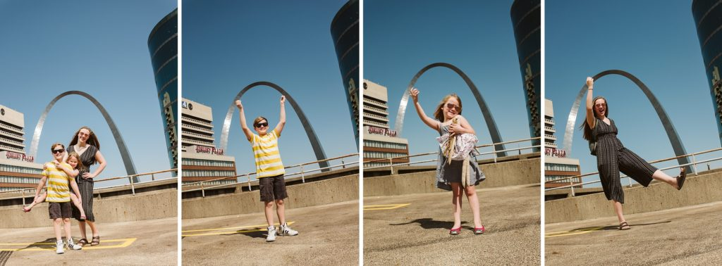 Children at the Arch in St. Louis. Photo by Laura Mares Photography, Pittsburgh Lifestyle Photographer.