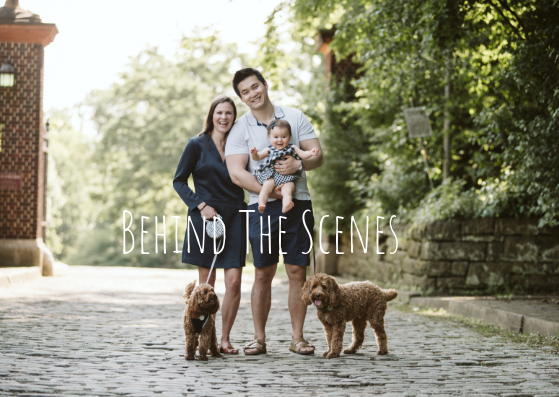 Behind the Scenes at a Family Session in Mellon Park