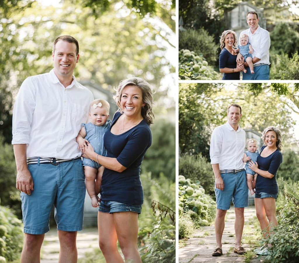 Portraits of a family of three at Mellon Park in Pittsburgh, PA. Portrait by Laura Mares Photography. Pittsburgh Family Photographer.