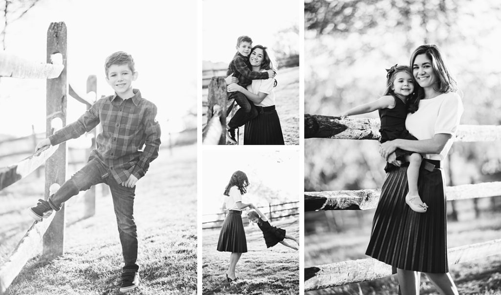 Black and white family portraits by Laura Mares Photography, Pittsburgh Family Photographer.