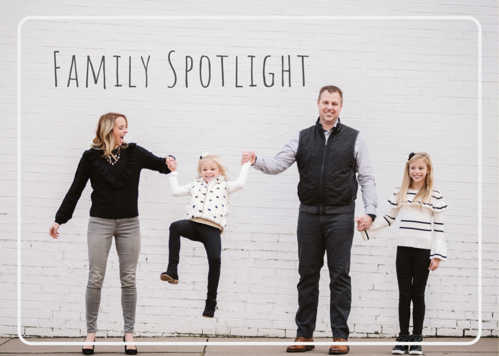 Urban Family Portrait with white brick wall. Portrait taken by Laura Mares Photography, Pittsburgh Family Photographer.