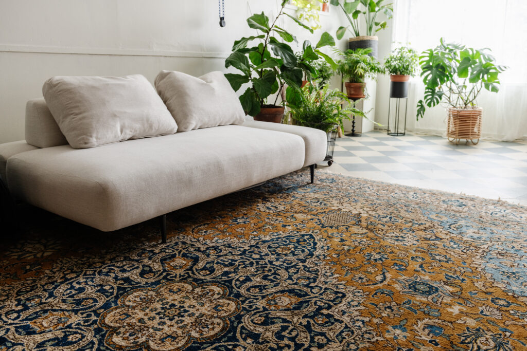 persian rug in the bohemian photography studio