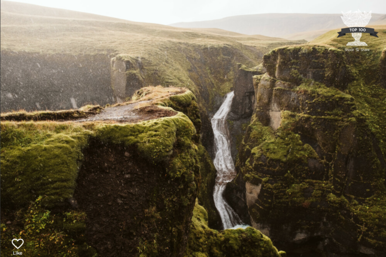 Southern Iceland canyon, Fjadrargljufur captured by Laura Mares Photography, Travel Photographer