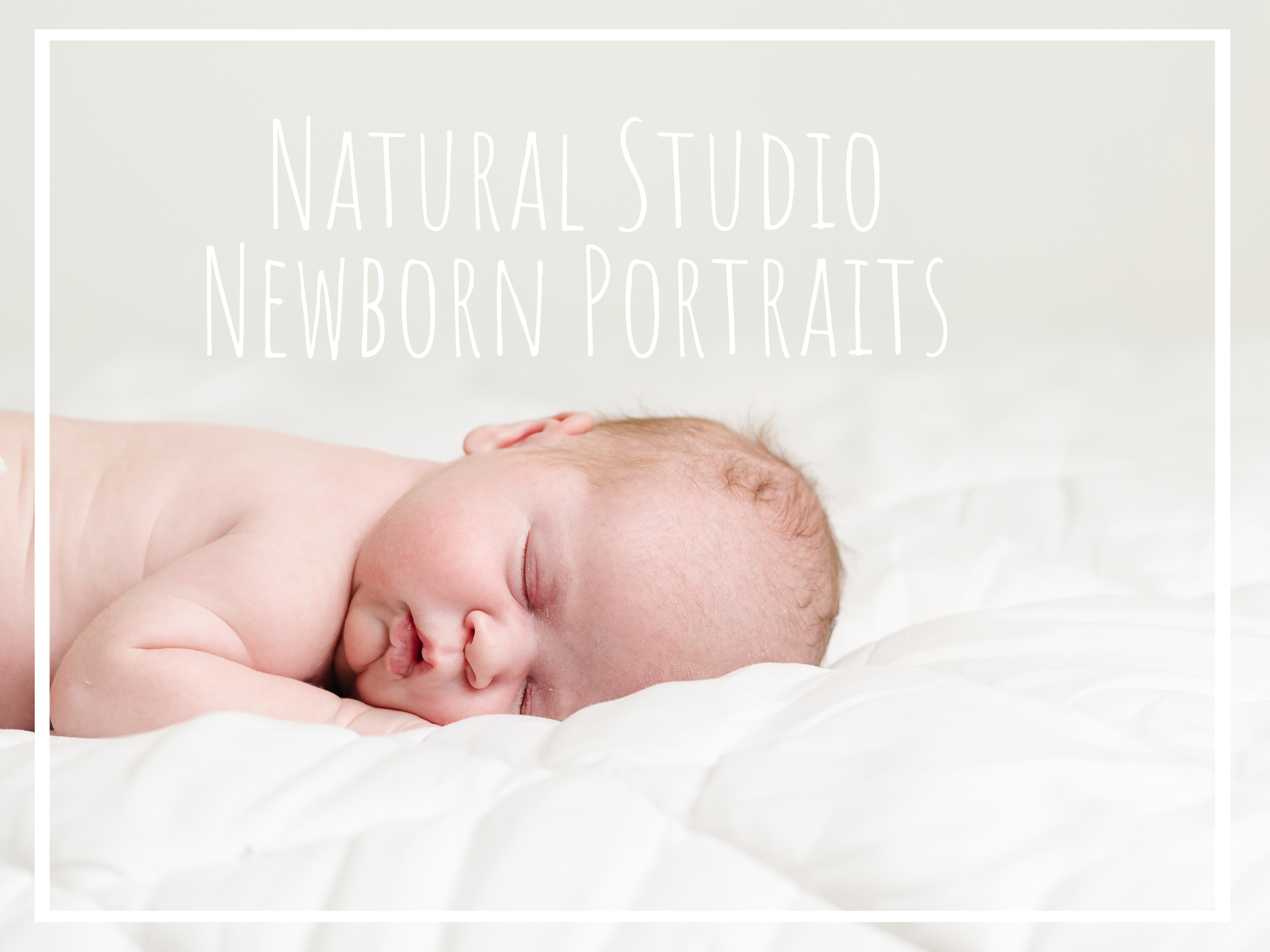 Modern Newborn Studio Photography