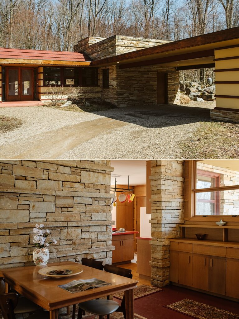 Pictures of Frank Lloyd Wright's Duncan House in the Laurel Highlands near Pittsburgh