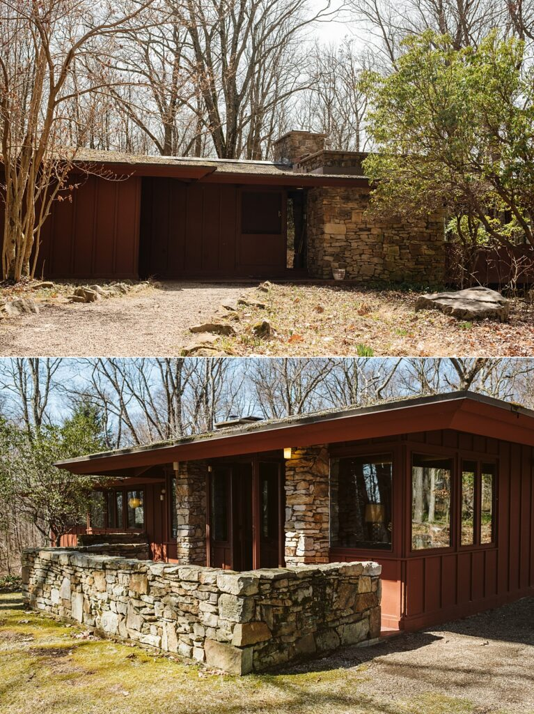 Pictures of Frank Lloyd Wright's Balter House in the Laurel Highlands near Pittsburgh