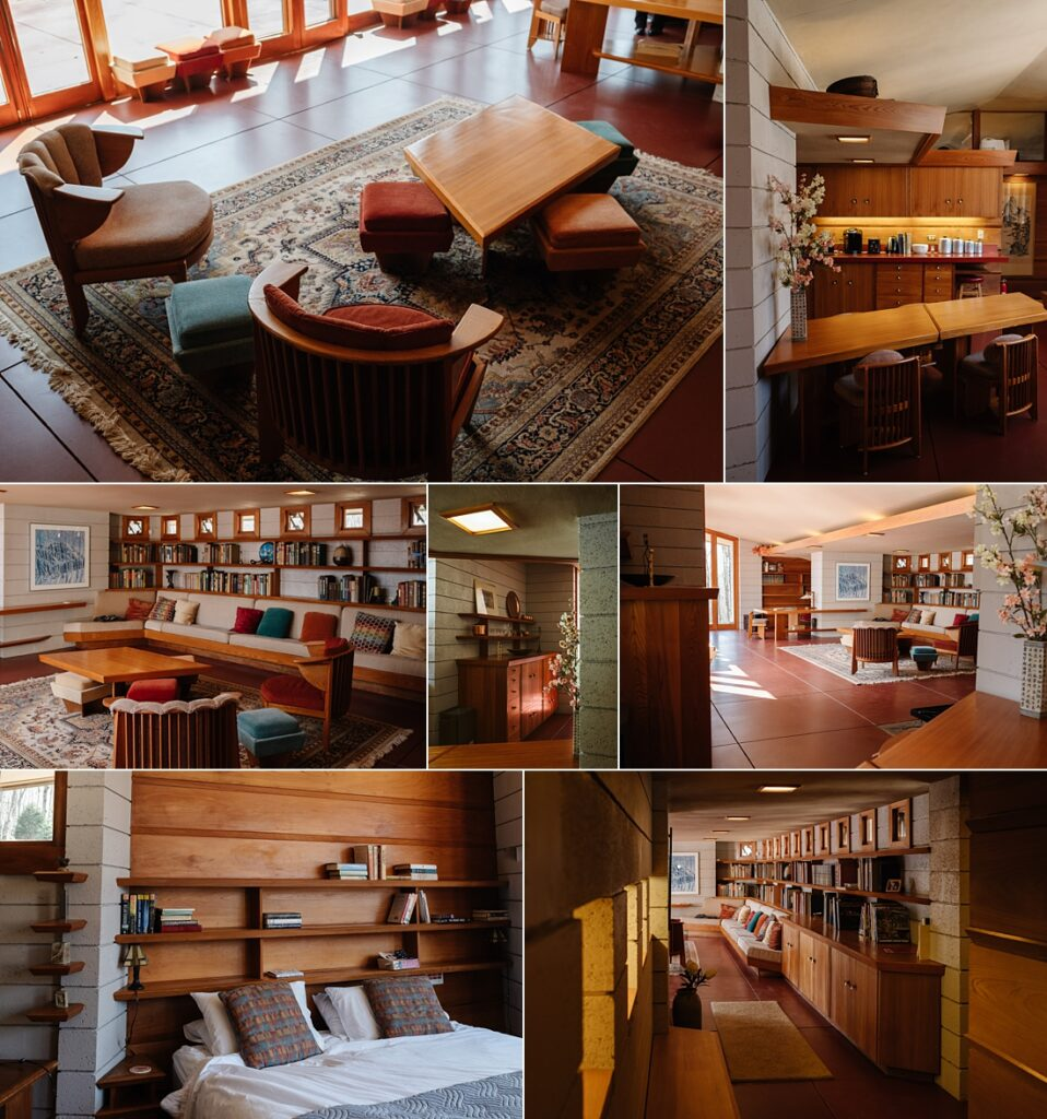 Pictures of Frank Lloyd Wright's Mäntylä in the Laurel Highlands near Pittsburgh