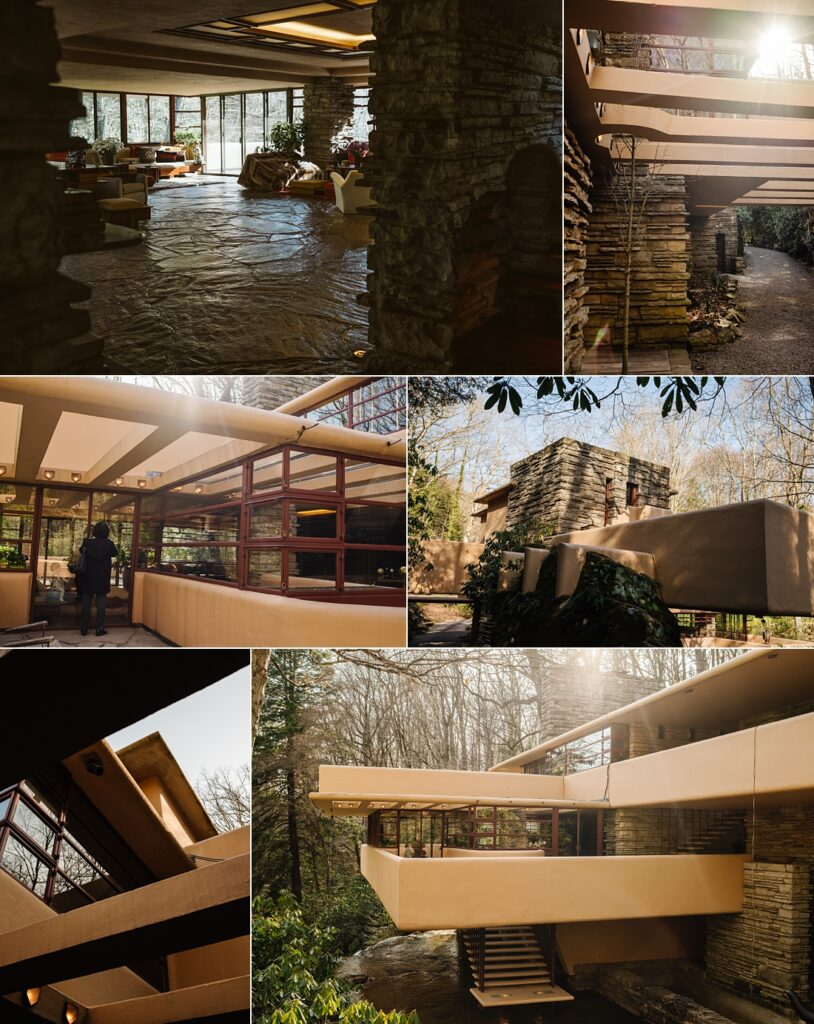 Pictures of Frank Lloyd Wright's Fallingwater in the Laurel Highlands near Pittsburgh