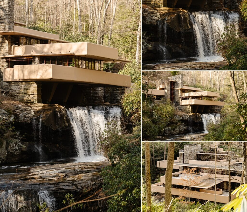 Pictures of Fallingwater in the Laurel Highlands near Pittsburgh